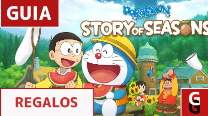 Regalos para los residentes de 'Doraemon Story of Seasons'