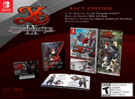 Ys IX: Monstrum Nox llegará a Switch el 9 de julio y a PC el 6 de julio
